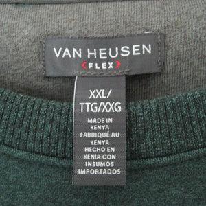 Van Heusen Shirts - Men's Van Heusen Green Flex Sweatshirt XXL NWT